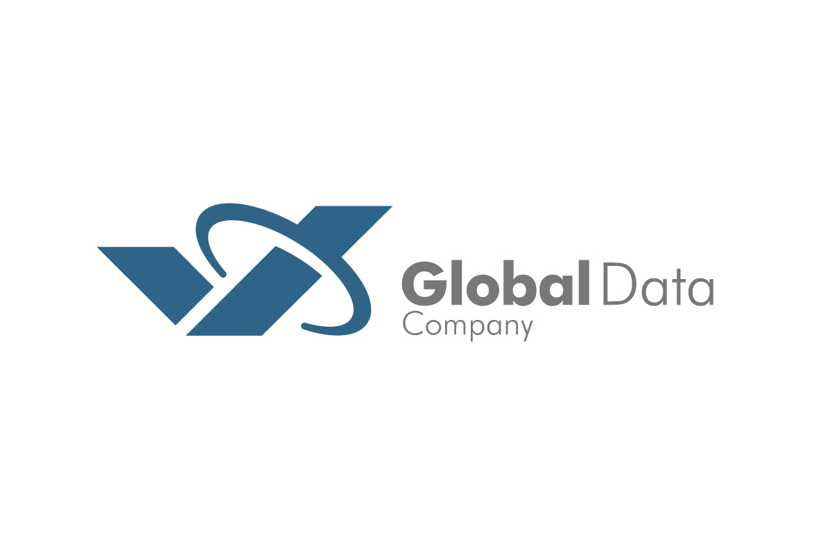upmarket bold business logo design for global data