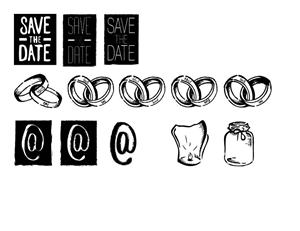 Print Design by kacndw - Wedding Icons / Elements Design (drawing / illu...