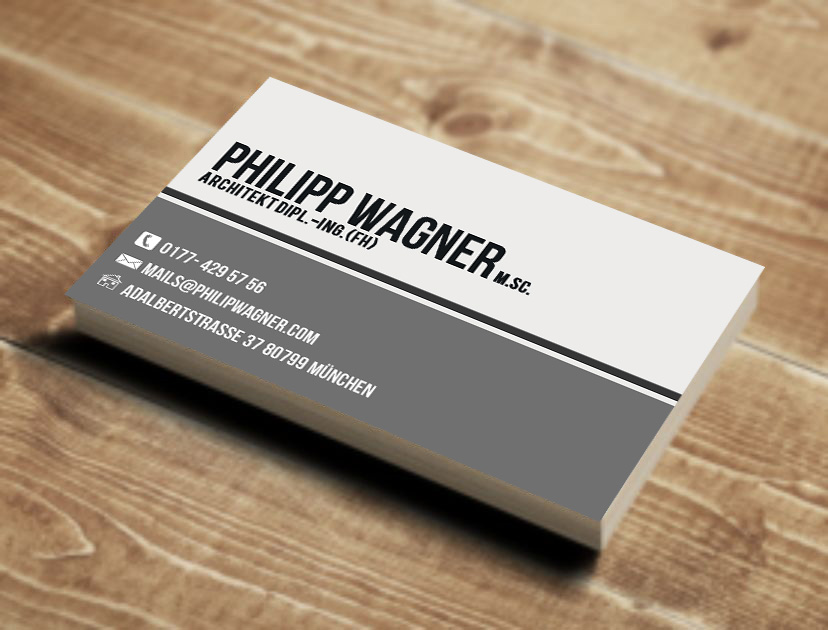 Architect jobs architecture jobs interior design jobs home design - Masculine Elegant Business Card Design For Philipp Wagner