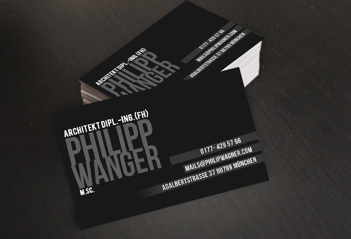 Masculine elegant business card design for philipp wagner by business card design by gtools for business card design for freelance architect design 3130292 magicingreecefo Images