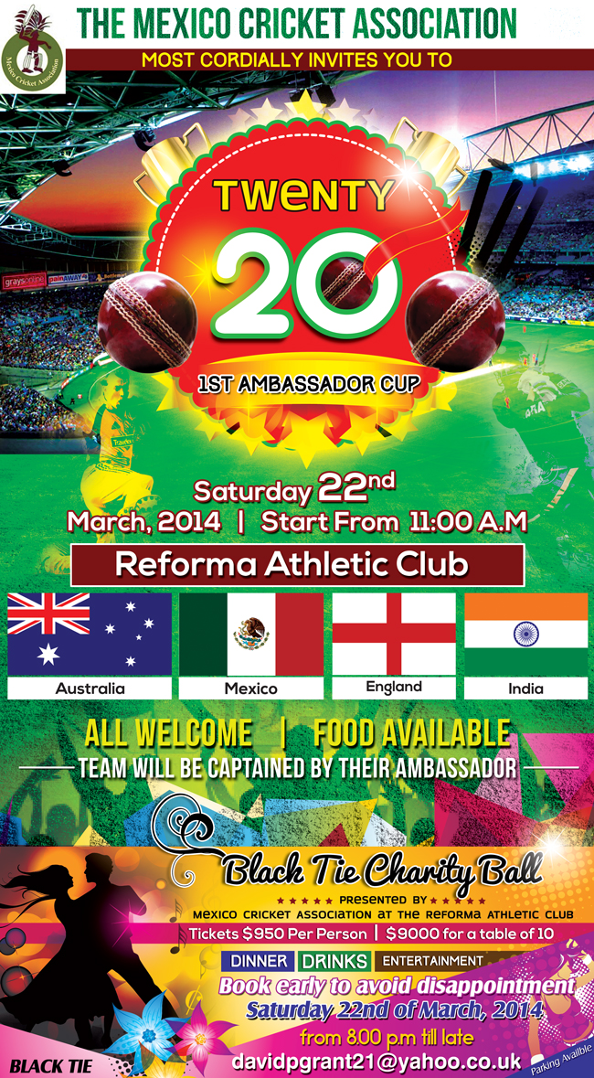 Invitation For Corporate Cricket Tournament: Personable, Economical, Club Invitation Design For A