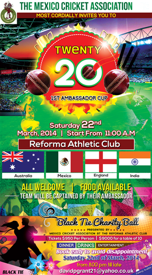 Invitation Design by Biswajit - Ambassadors Cup - Mexico (Cricket)
