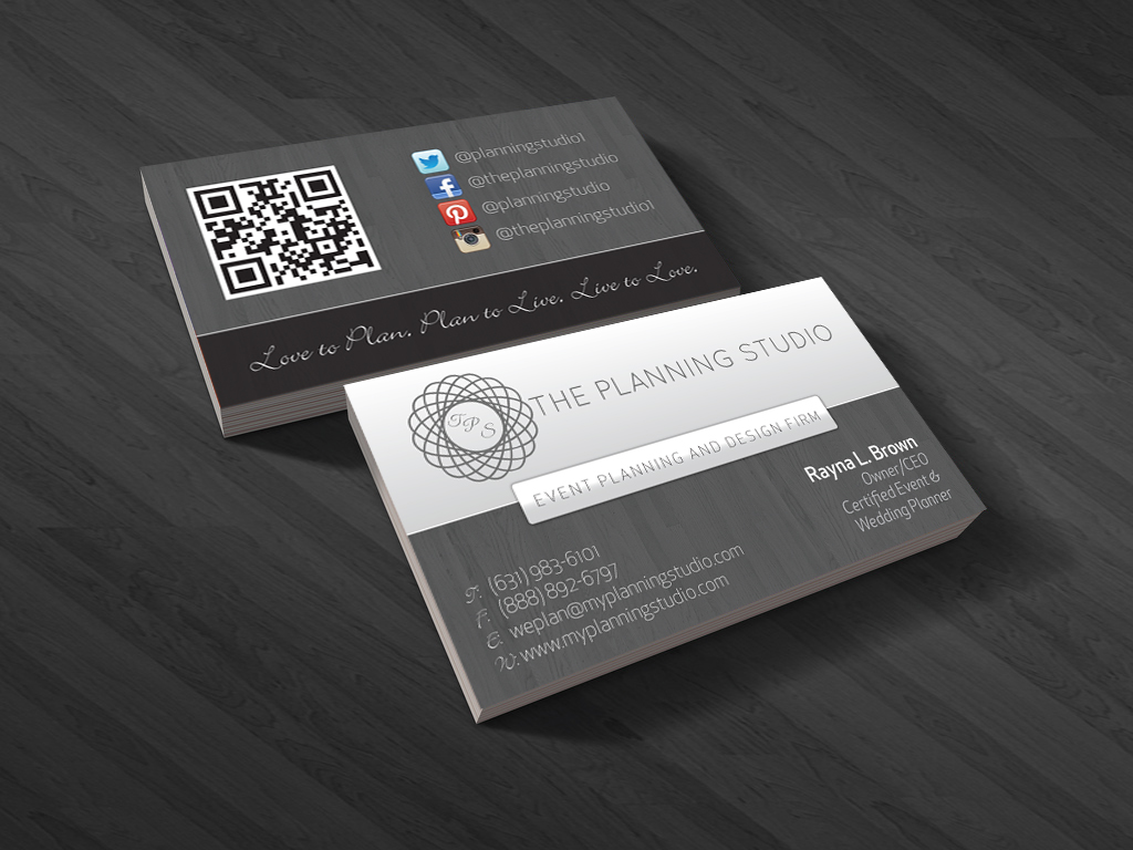 Wedding Business Card Design for The Planning Studio by ProGravix ...