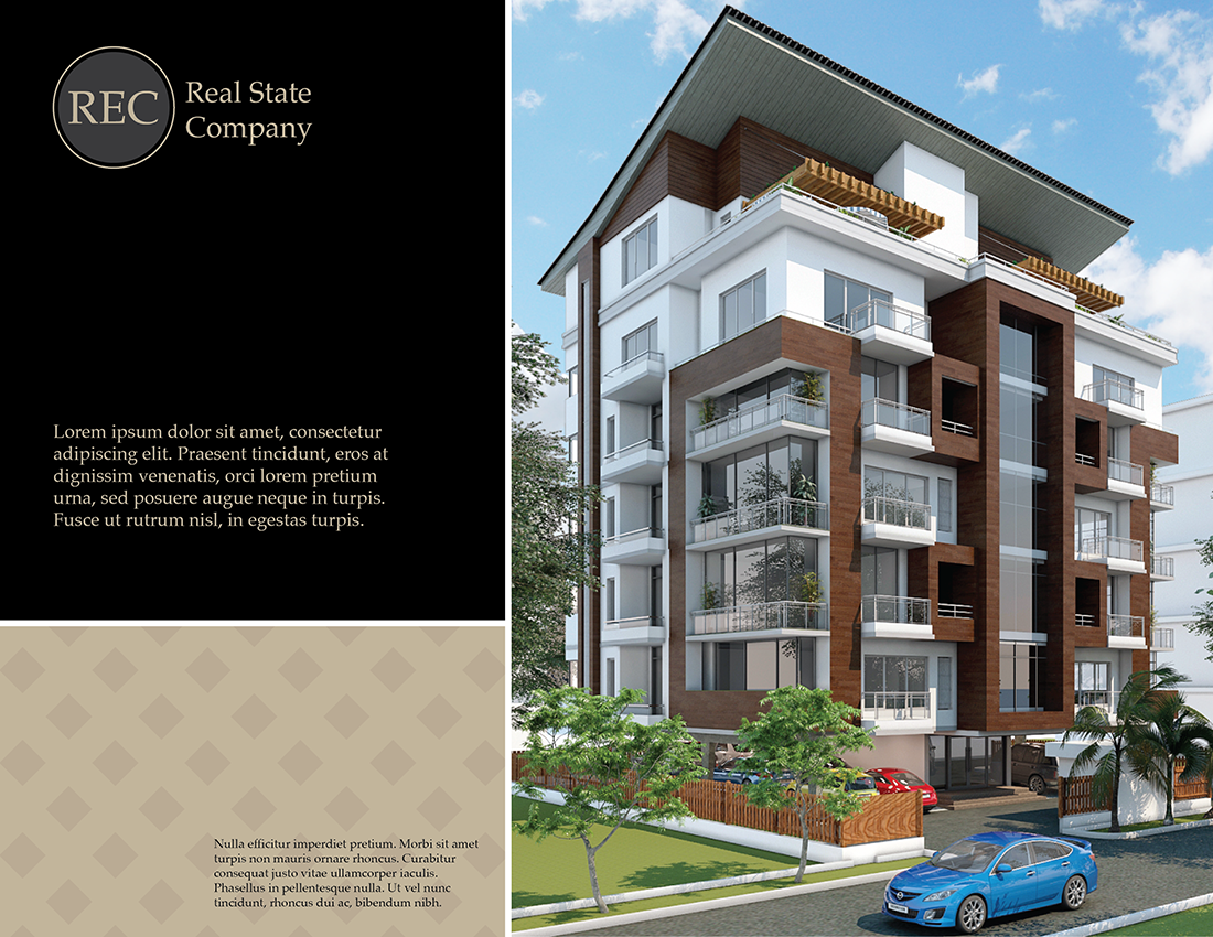 Modern professional building brochure design for lara for Professional building designer