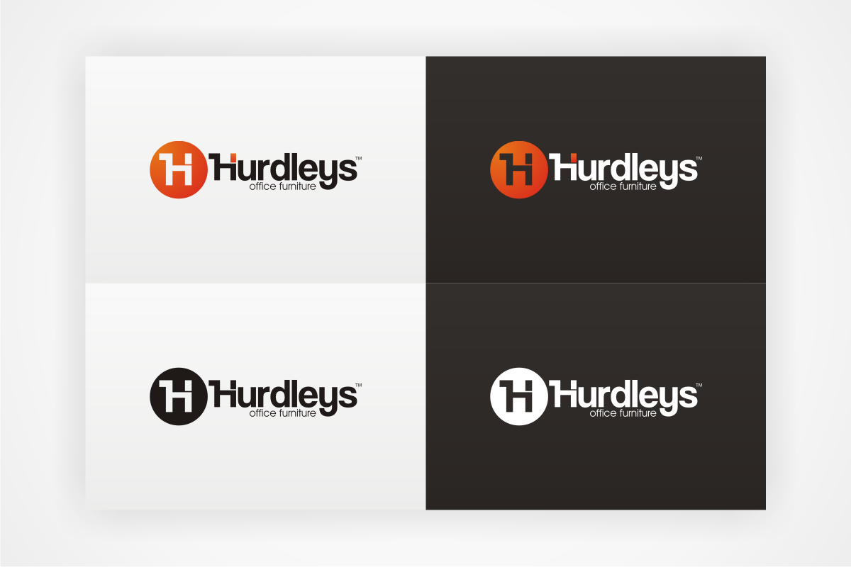 modern professional office furniture logo design for hurdleys