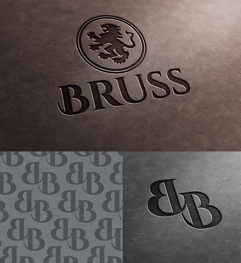 Masculine Traditional Logo Design For Bruss By Karolin Design