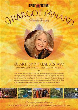 Flyer Design by Squeeze Designz - Margot Anand: Love, Ecstasy and Meditation 7 Da...
