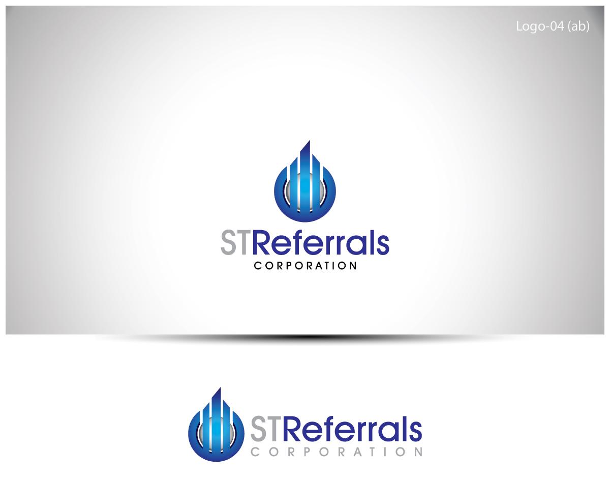 logo design for st referrals corporation by esolbiz design 3098765. Black Bedroom Furniture Sets. Home Design Ideas