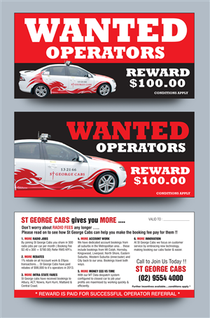 Flyer Design by rkailas - WANTED Taxi Operators