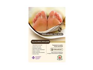 Flyer Design by Brigitte Melissa B - Pembrokeshire foot health or foot health pembro...