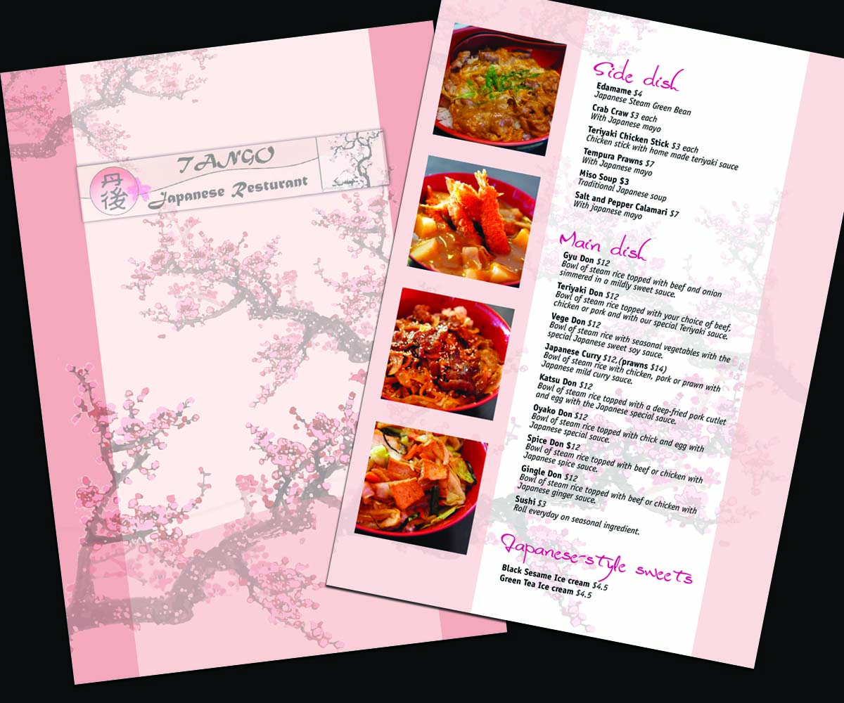 Restaurant menu design for a company by id