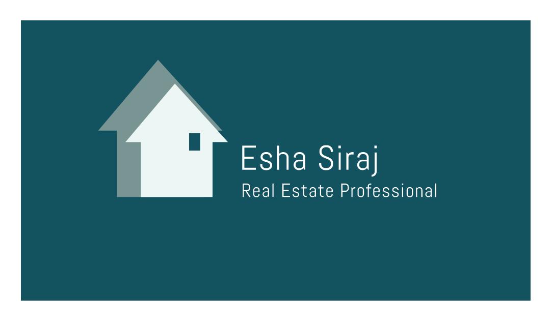 Business Card Design for Esha Siraj by Haris Imran | Design #3116158