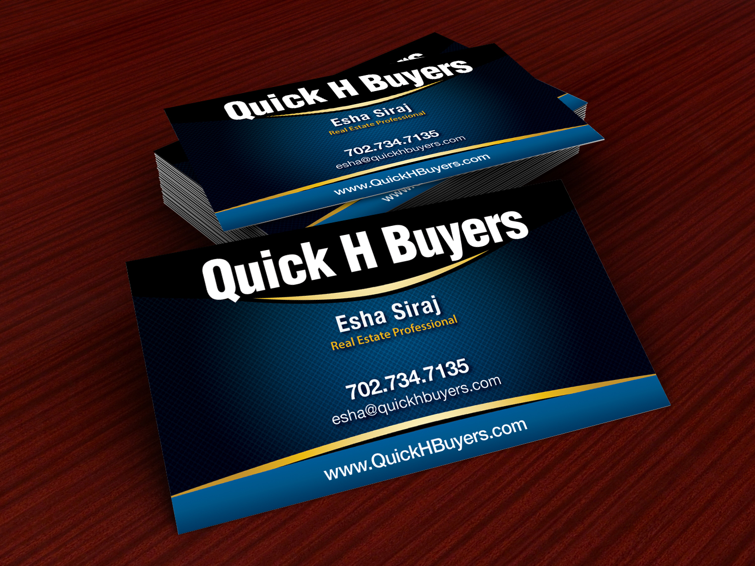 Real Estate Business Card Design For A
