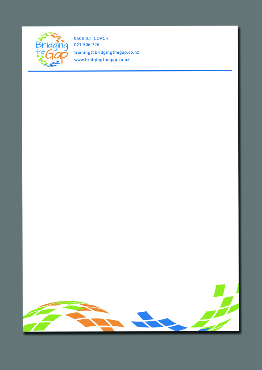computer letterhead design for bridging the gap by armin