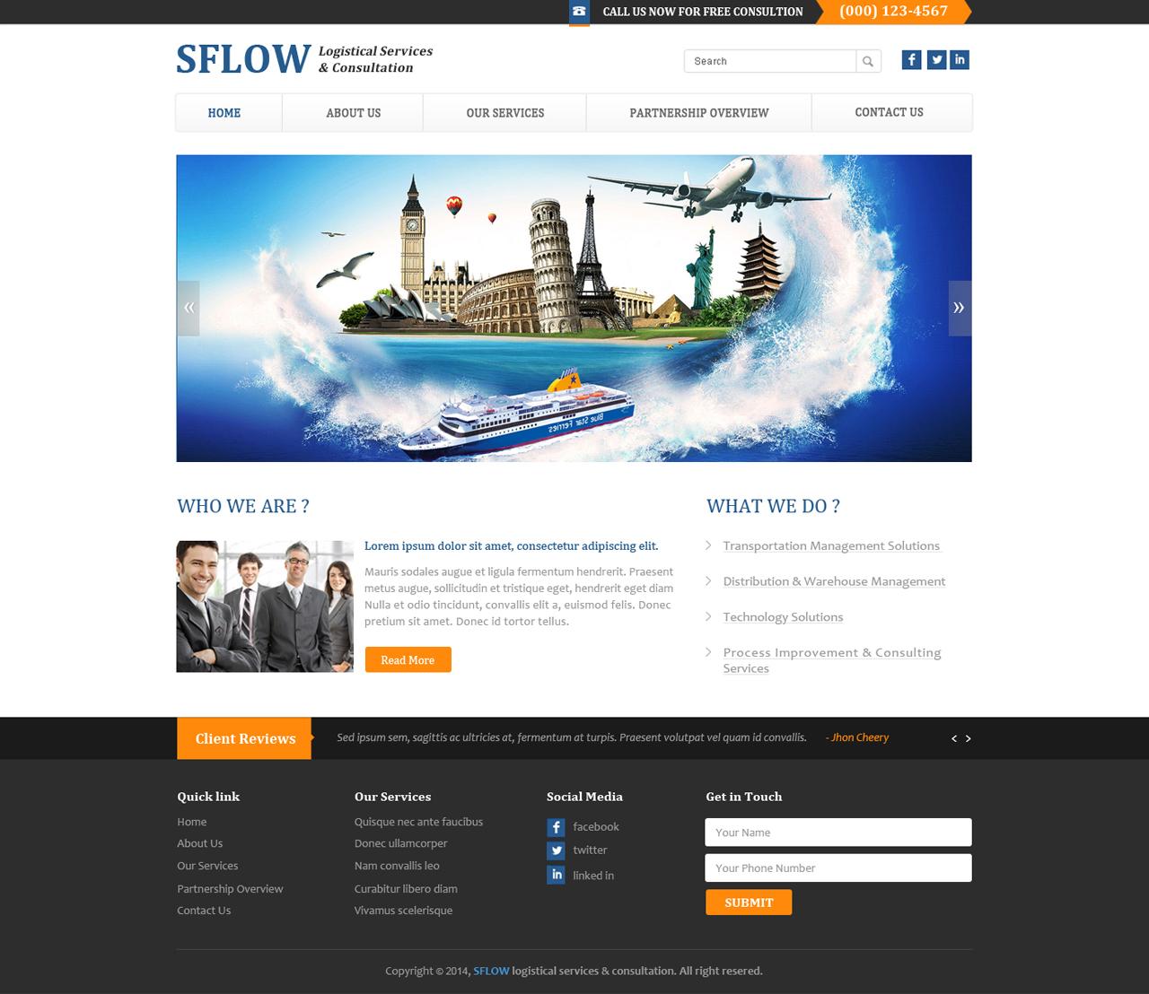 Business Web Design for SFLOW Logistics by Josh-Toto | Design #3163122
