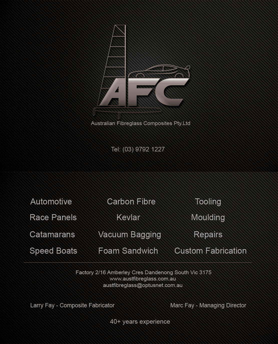 Automotive business card design for australian fibreglass composites automotive business card design for australian fibreglass composites in australia design 3106256 reheart Gallery