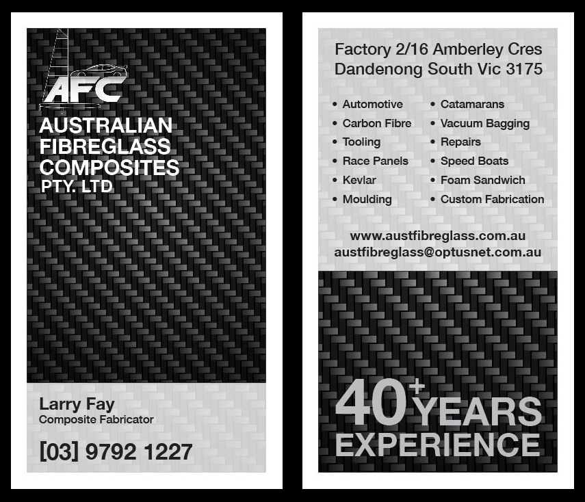 Automotive business card design for australian fibreglass composites automotive business card design for australian fibreglass composites in australia design 3104560 reheart Gallery