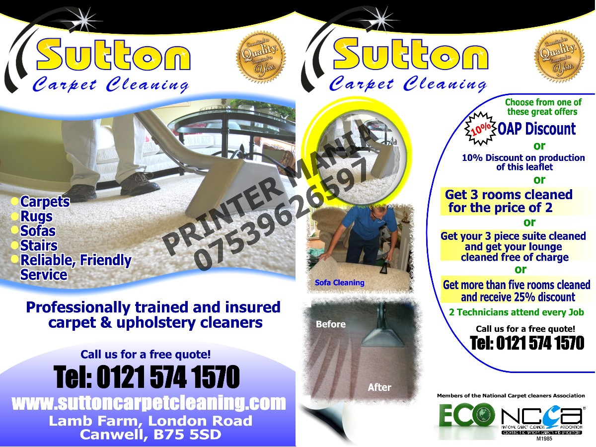 flyer design by printer mania for sutton coldfield dairies design 755734