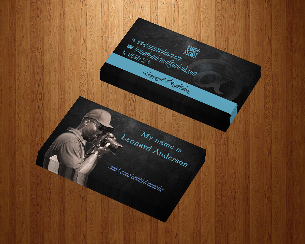 Modern, Masculine, Business Business Card Design for Leonard ...