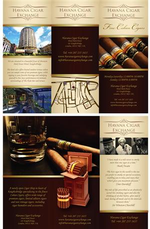 Brochure Design by Merima - Premium Cigar Shop