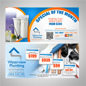 Flyer Design by James Sylvester - Waterview Plumbing Services Pty Limited