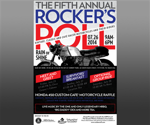 Poster Design by micacabildo - Rocker's Roll 5, The fifth annual Rocker's Roll...
