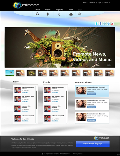 Artistic Business Website Maker Design 763238