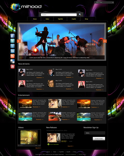 Cool Sushi Train Web Design 767991