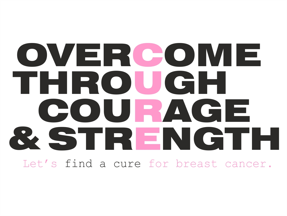 Breast Cancer Inspirational Quotes Colorful Elegant Logo Design For Greg Ross2Square  Design