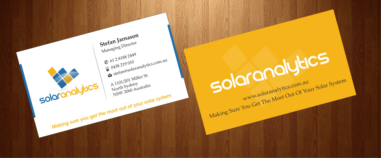 Serious, Professional, Business Business Card Design for Solar ...