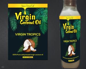 Coconut Oil Labels 96 Custom Coconut Oil Label Designs