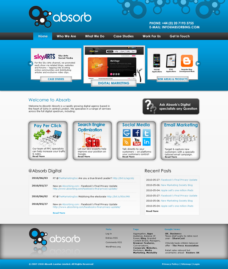 Web Design By Loesigns Ae For Absorb London 69625