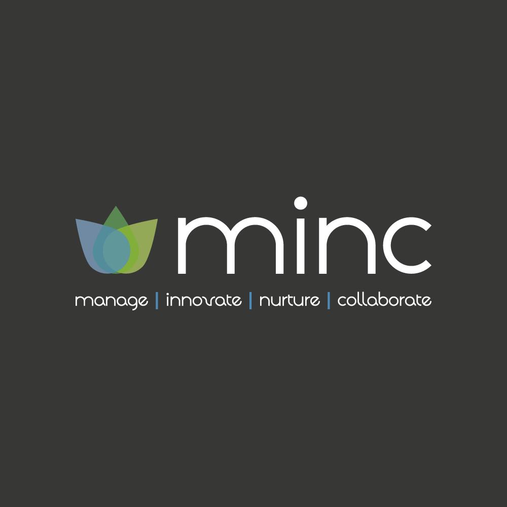 management logo design for minc manageinnovatenurture