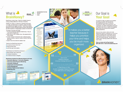 Media Brochure Design And Business Name 71342
