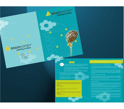 Financial Planner Typography Brochure Design 70365