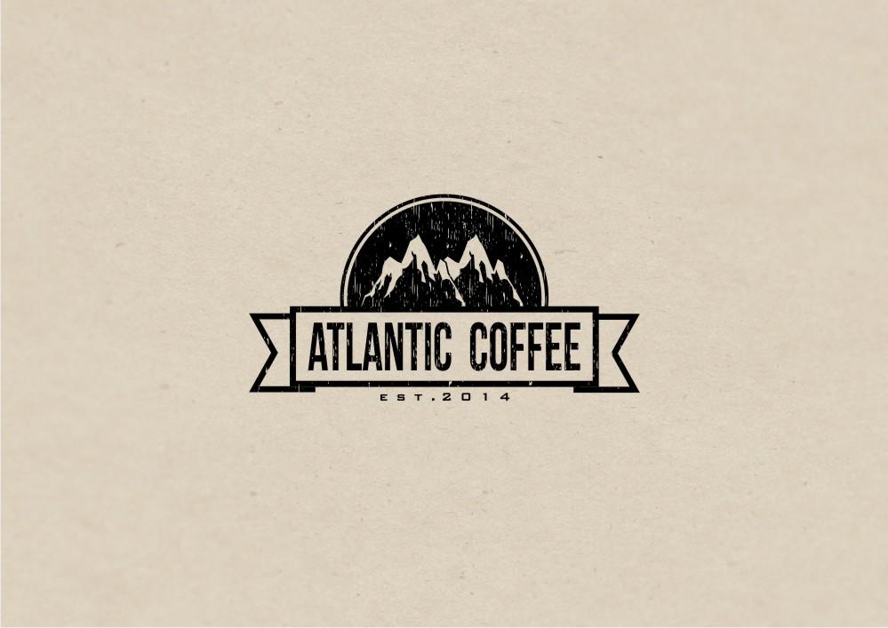 coffee shop logo design for atlantic coffee by amduat design