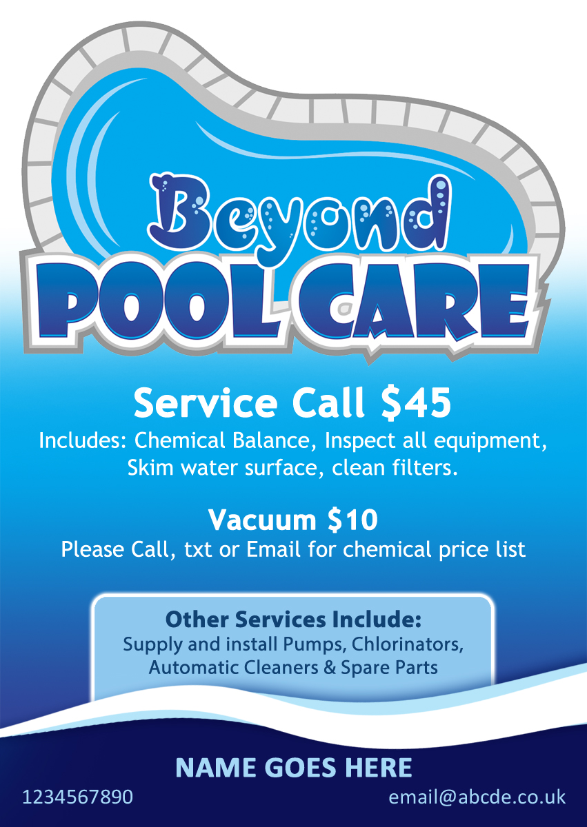 pool service flyers. Flyer Design By Amritvir For Pool Business Needs Attractive - #3260583 Service Flyers