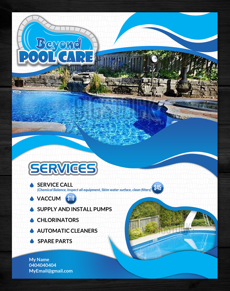 Swimming Pool Cleaning Service Advertising Bundle by ...  Pool Service Advertising