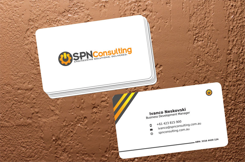 Business business card design for a company by elkana letting business business card design for a company in australia design 3181258 reheart Image collections