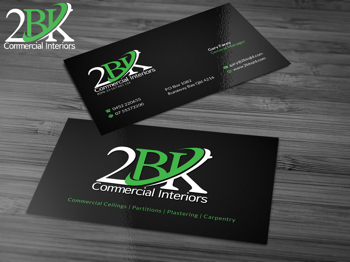 Masculine bold business card design for gary facey by gtools business card design by gtools for commercial construction interior fitout company needs logo and business cards magicingreecefo Images