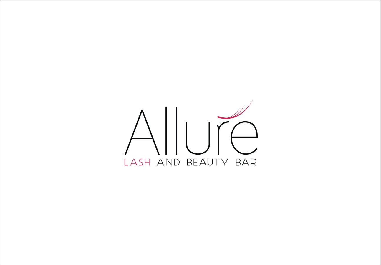 shopping logo design for allure lash and beauty bar by