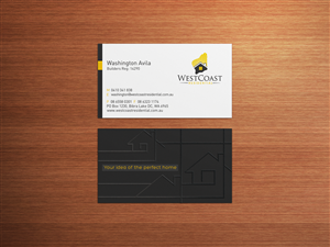 Business Card Design (Design #3314820) Submitted To Residential Home Builder  Needs A Fresh