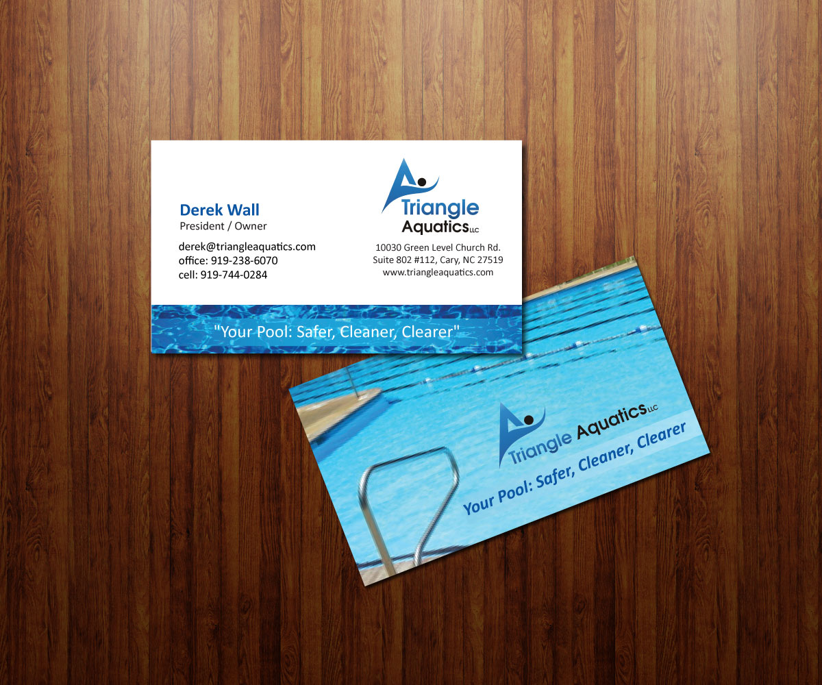 Playful upmarket safety business card design for triangle aquatics business card design by coco creative design for triangle aquatics llc design 3185634 reheart Images