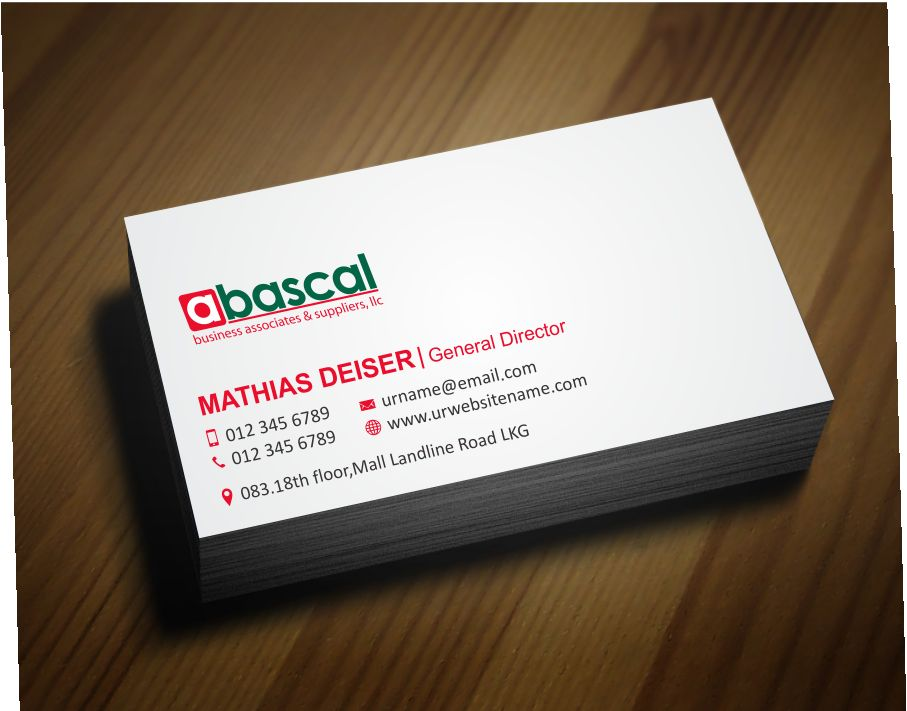 Business Business Card Design for Abascal Business Associates ...