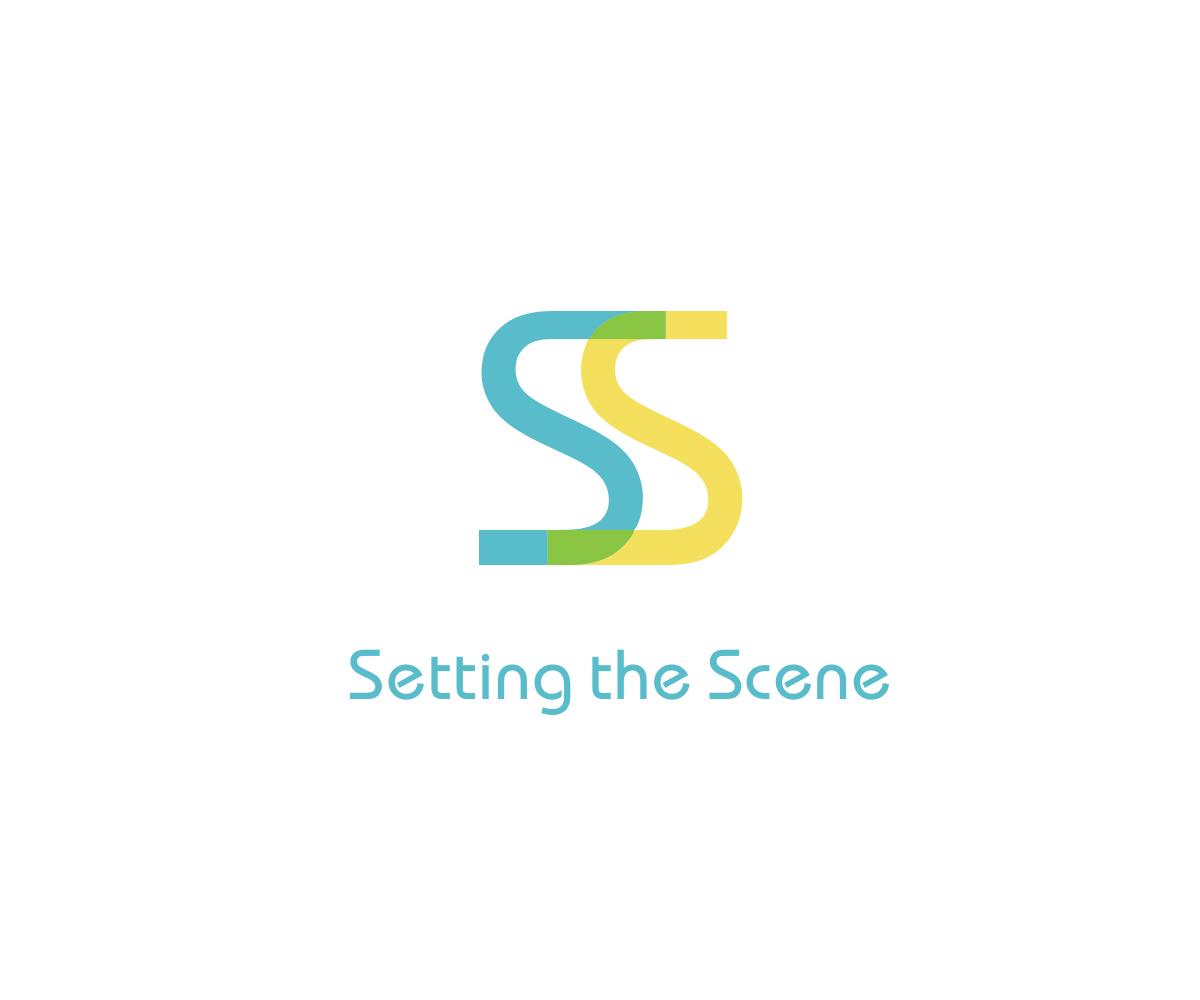 Logo Design For Setting The Scene By India Jane Design