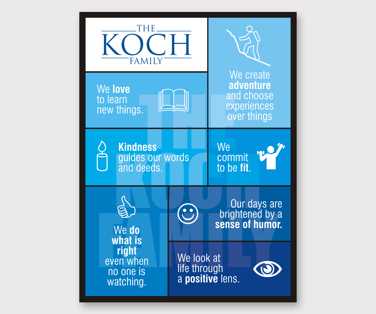 Poster design company - Poster Design By Nicholas For Koch Family Motto Mission Statement Design 3406607