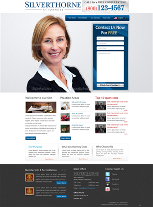 Web Design by pb - Attorney Website Home Page Design Project