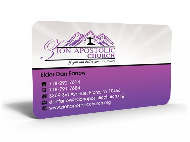 Business Card Design design for Zion Apstolic Church Inc