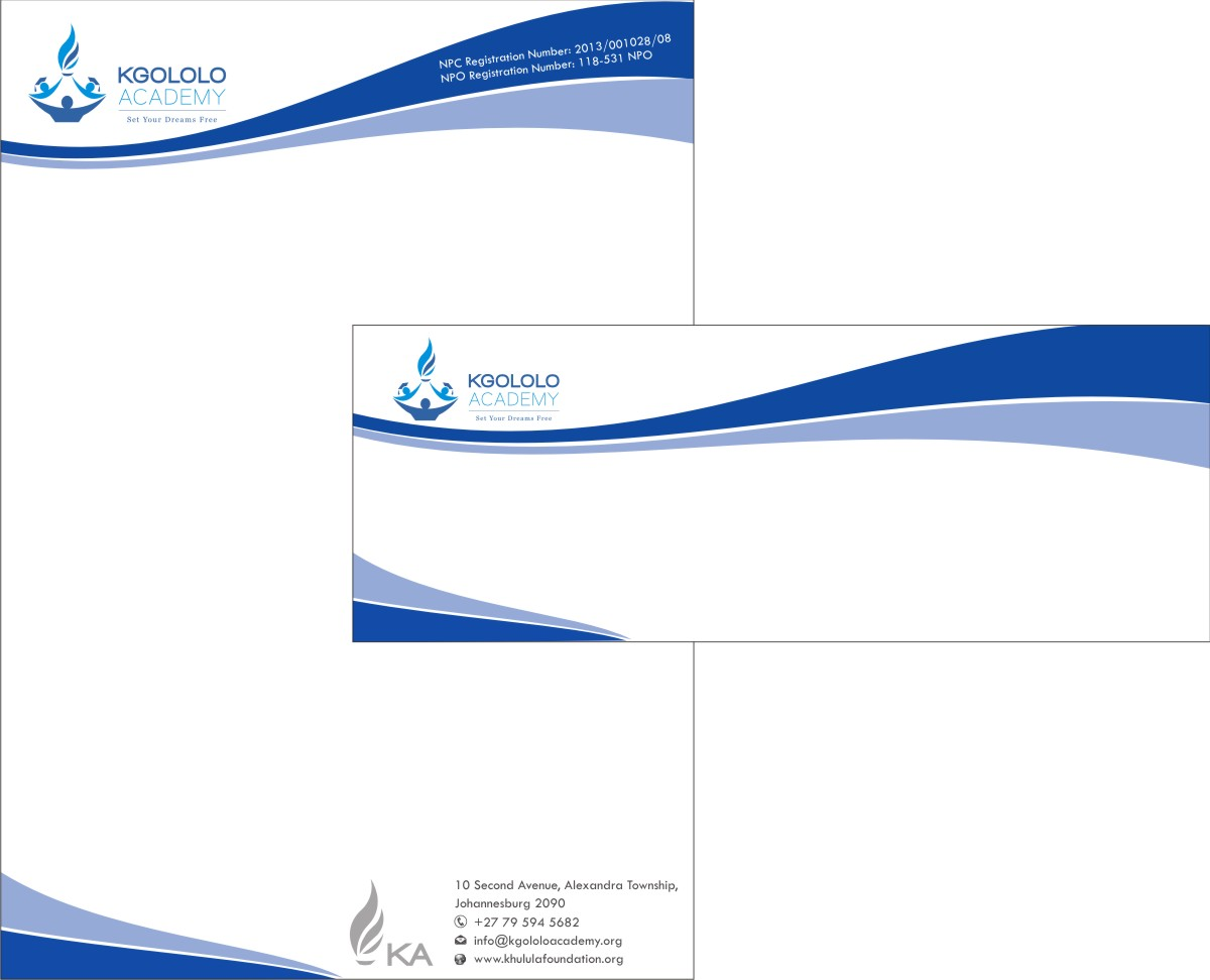 Elegant feminine letterhead design for the khulula Create a blueprint