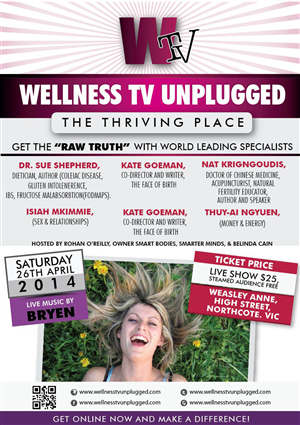 Flyer Design by Ushan sampath - Wellness TV Unplugged Event Flyer Creative Brief